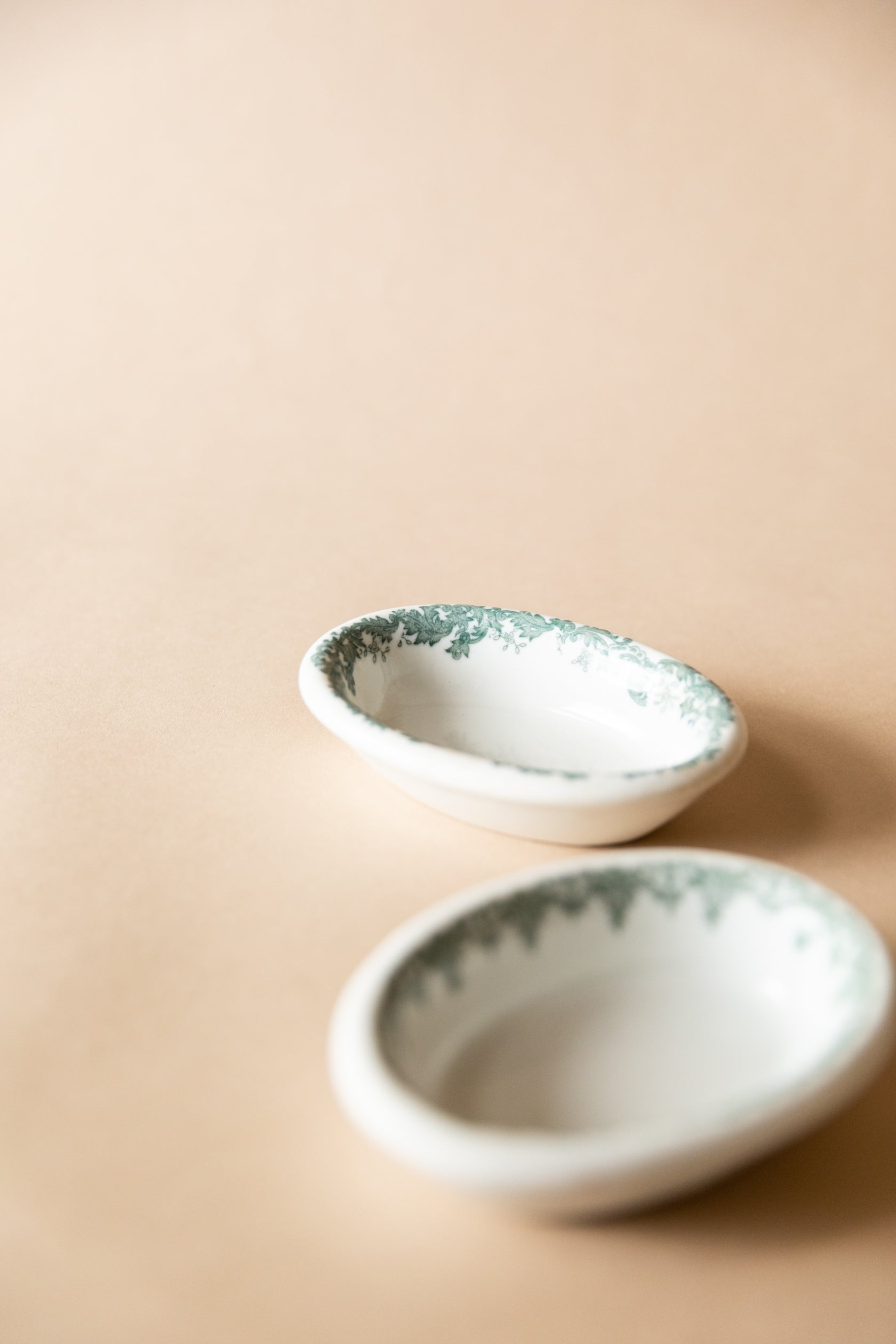 Small Transferware Side Dishes, set of 2