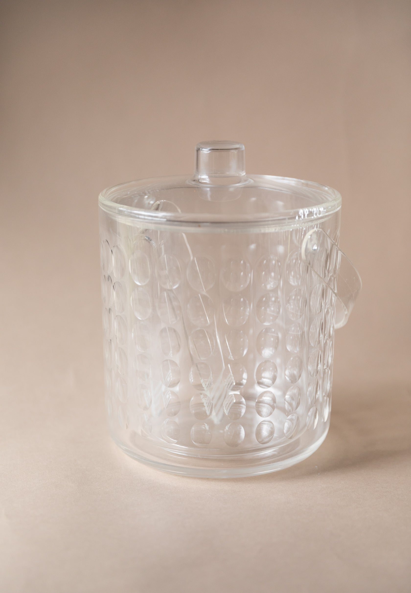 MCM Acrylic Ice Bucket with Tongs