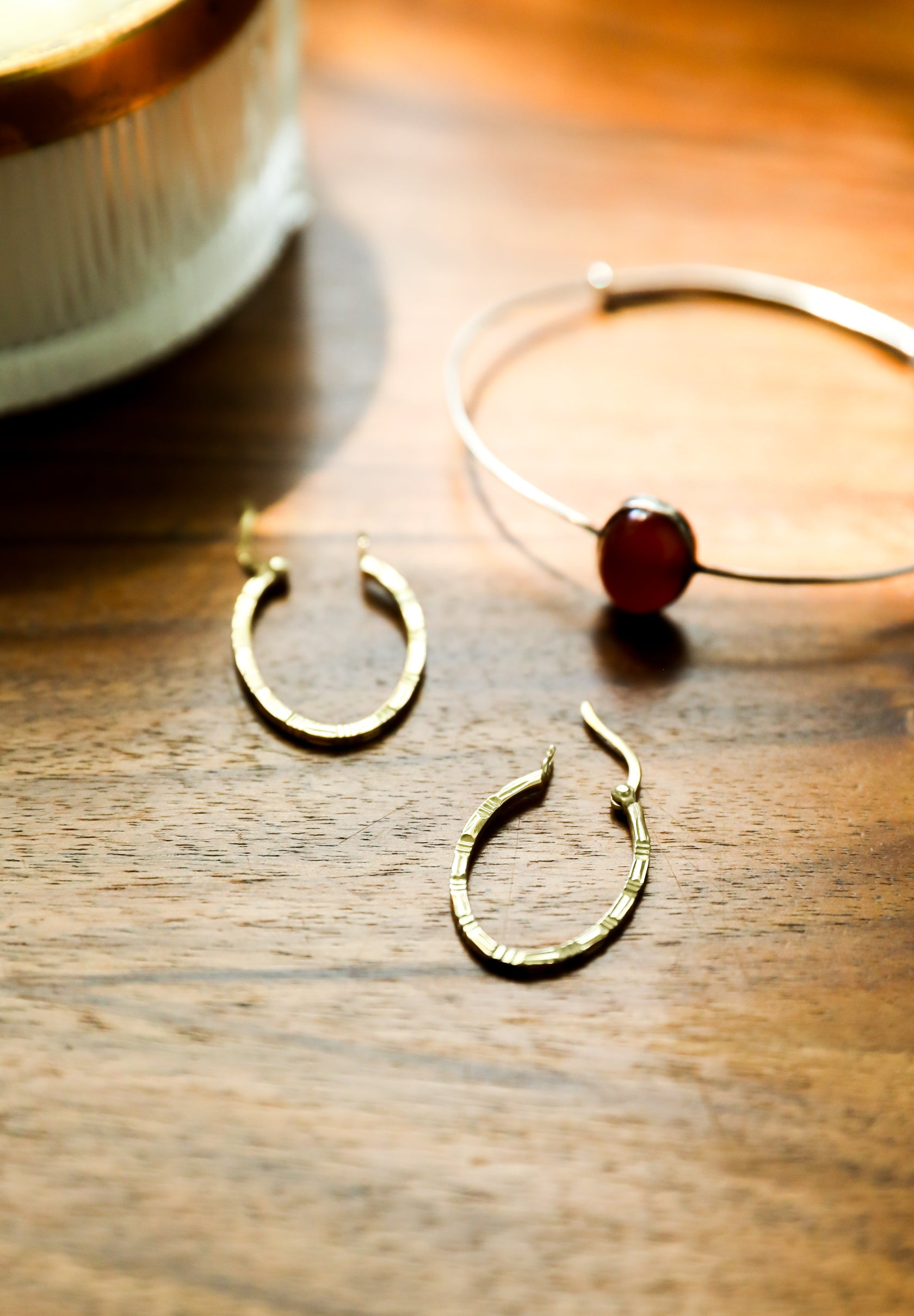 Oval Gold Plated Hoops