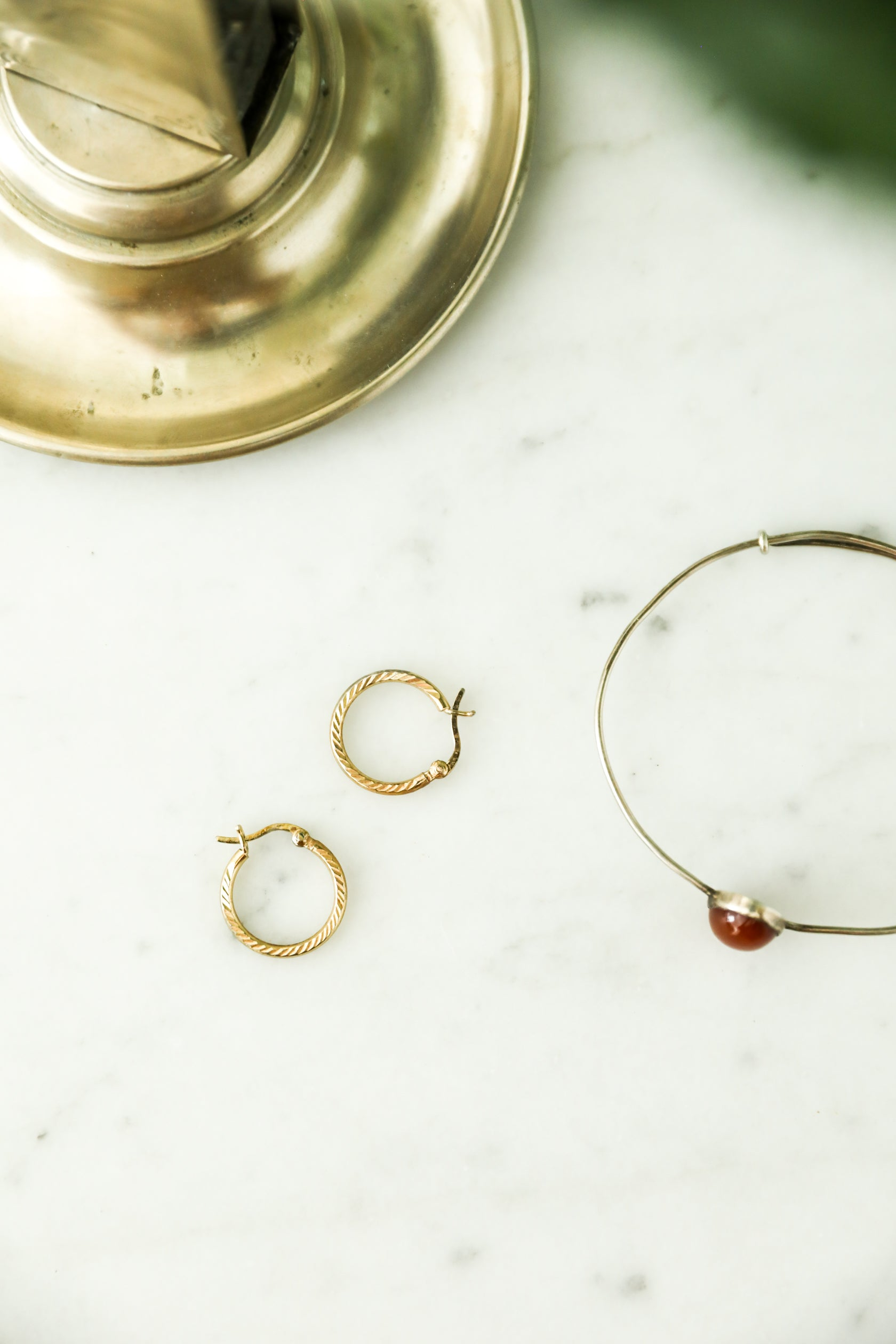 Round Gold Plated Hoops