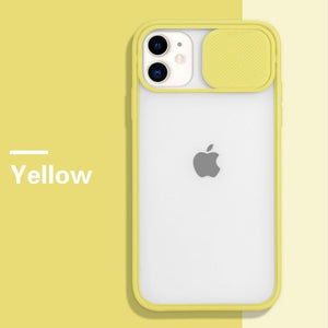 iPhone Case  on For iPhone 11 Pro Max Camera lens protector iPhone 8 7 6 6s Plus Xr XsMax X Xs SE 2020 Color Candy Soft Back Cover Gift