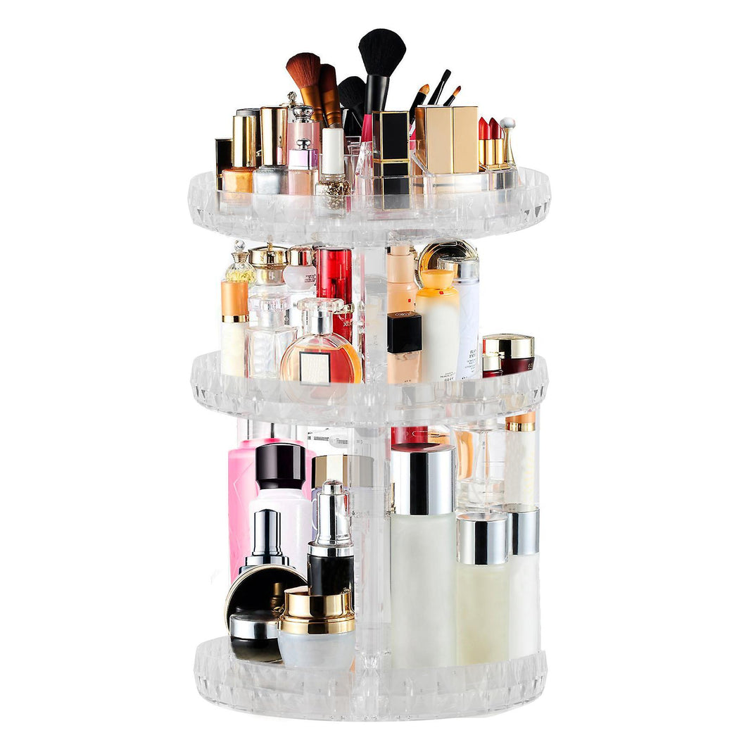 Image of Makeup organizer on white background