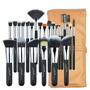image of brown set makeup tools