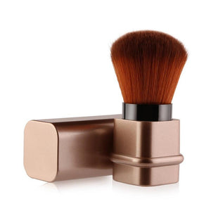 Image showing a gold makeup brush