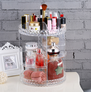 Image of Organizer for Makeup on wall background