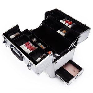 Image of opened mini makeup case