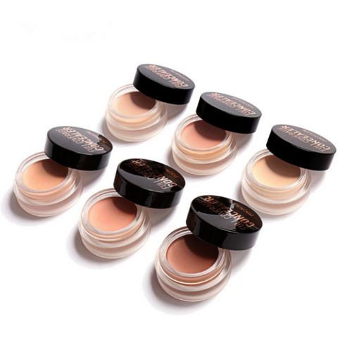 Image of 6 concealers on white background