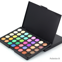 Load image into Gallery viewer, Image of the version B of the makeup glitter palette with light colors