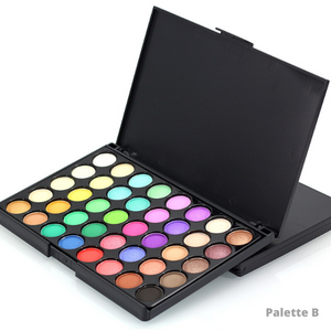Image of the version B of the makeup glitter palette with light colors