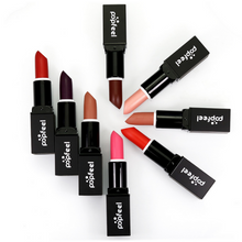 Load image into Gallery viewer, Image of all the popfeel matte lipstick from an helicopter view