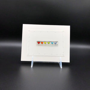 Card, Lrg-Rainbow Hearts-1