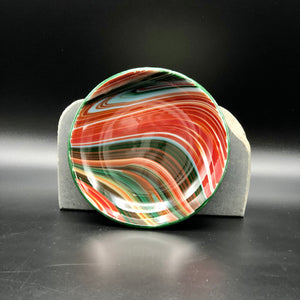 "Anything Bowl-4"": Red & Green Swirl-1"