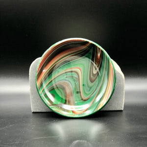 "Anything Bowl-4"": Red & Green Swirl-2"