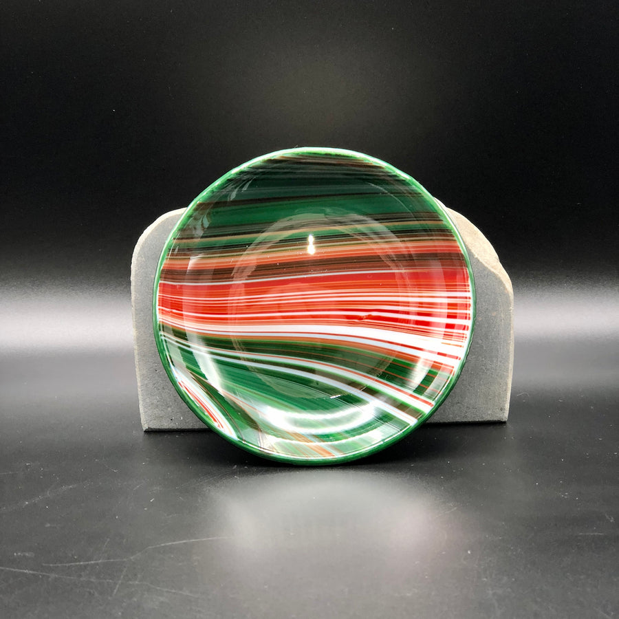 "Anything Bowl-4"": Red & Green Swirl-3"