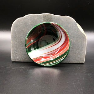 "Anything Bowl-3"": Red & Green Swirl-1"