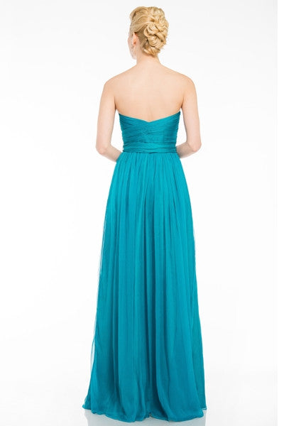 Allison Strapless Chiffon Dress Sample Sale