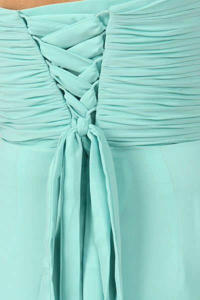 Layla Strapless Chiffon- OWN IT~ SAMPLE SALE