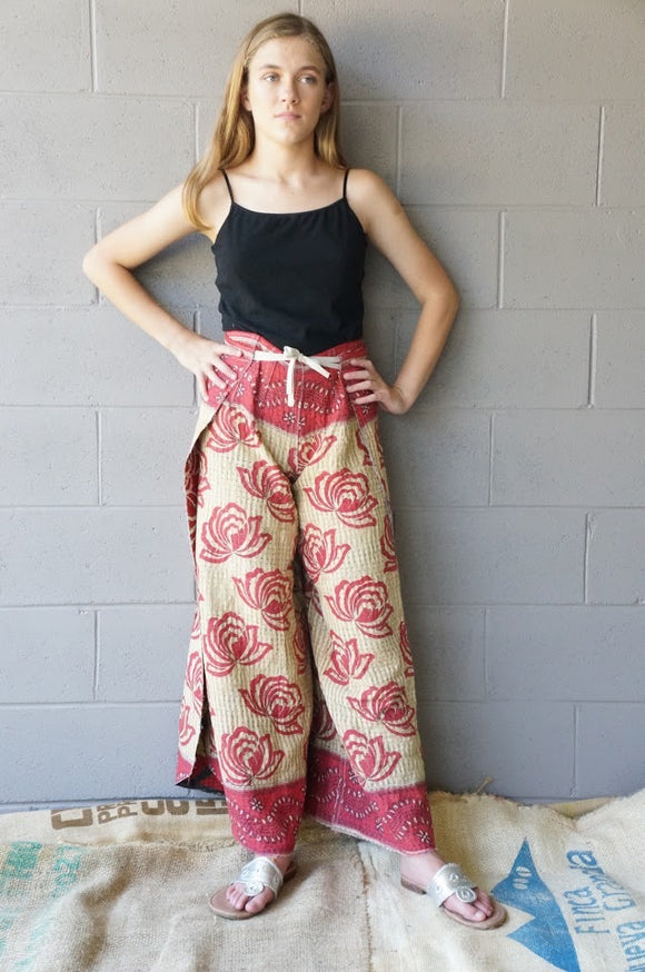 Fire Lotus Wrap Pants