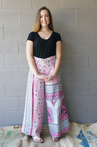 Pretty in Pink Wrap Pants