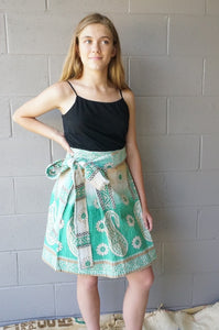 Mint Medley Wrap Skirt