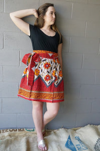 Flaming Glory Wrap Skirt