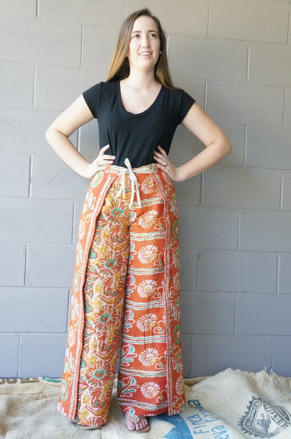 Apple Blossom Wrap Pants