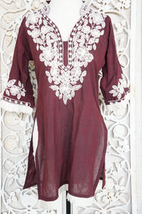 Maroon Dreams Tunic