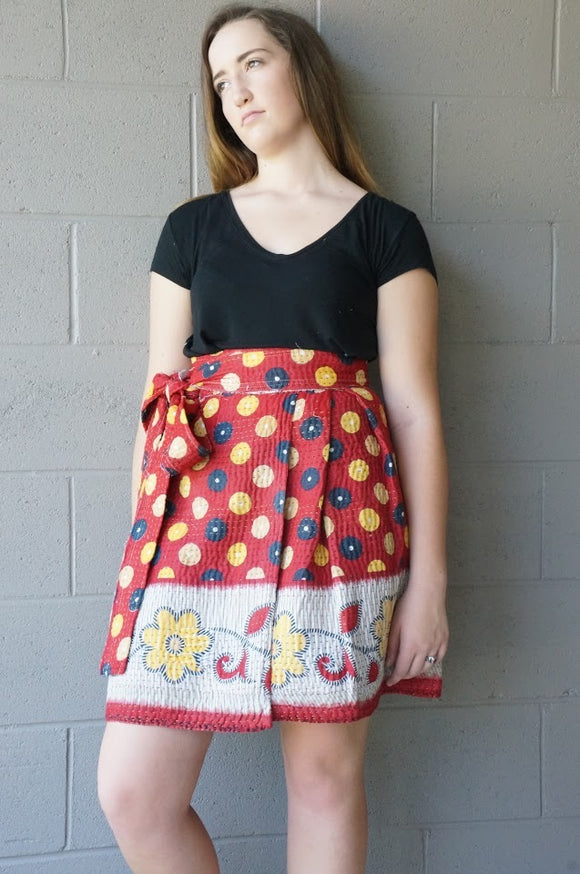 Spotted Petunias Wrap Skirt