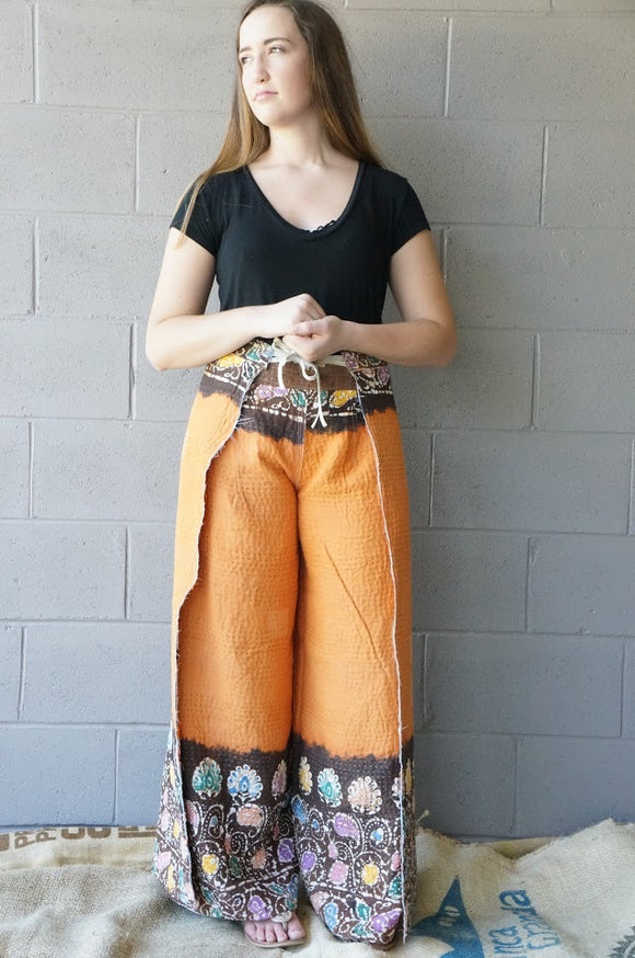 Rising Vines Wrap Pants