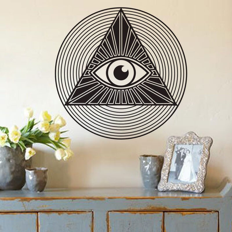 Sticker illuminati Oeil hypnotique