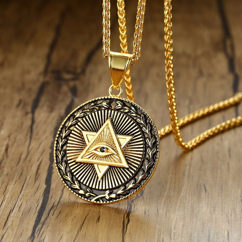 Collier illuminati duo de pyramide