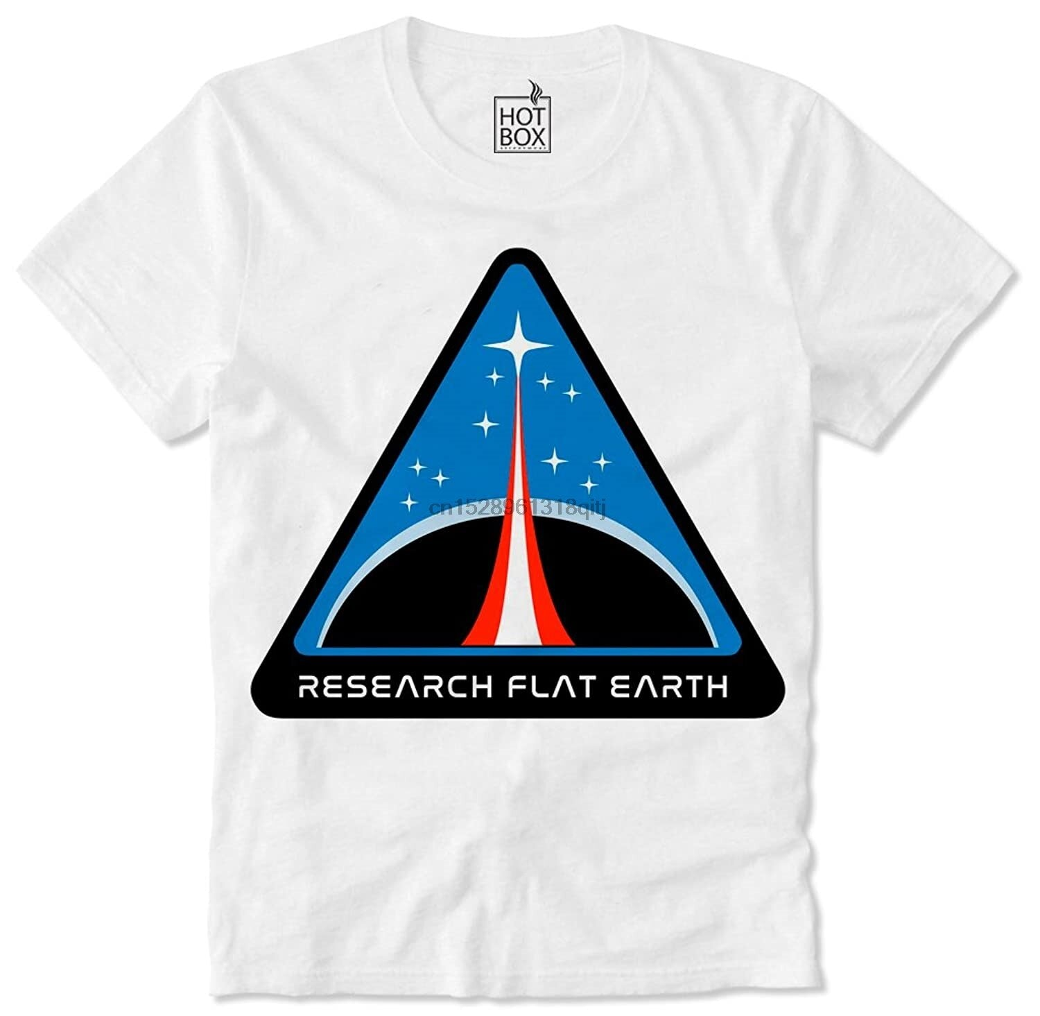 T-Shirt Illuminati Research flat earth