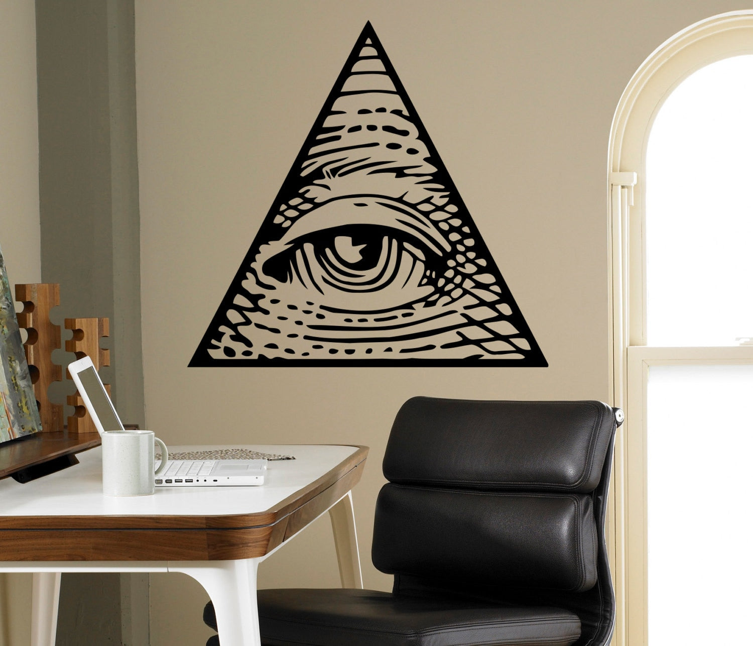 Sticker mural Œil d'illuminati