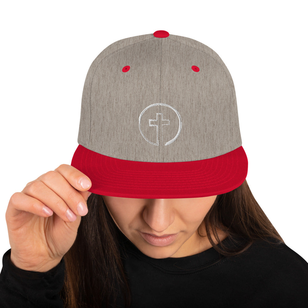 Circle and Cross Snapback Hat