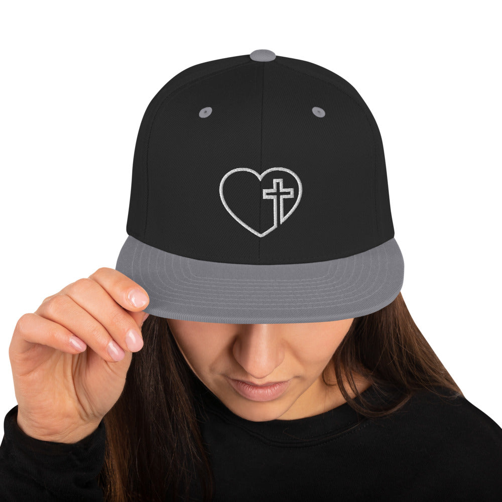HEART and CROSS Snapback Hat