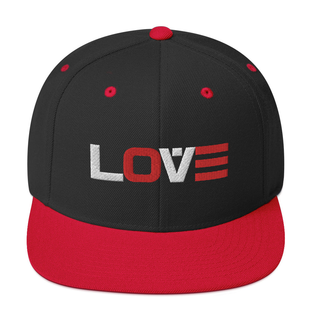 LOVE (RED-WHITE) Snapback Hat