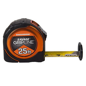 Swanson Tool SVGL25M1 25-Feet Magnetic Savage Grip Line Tape Measure