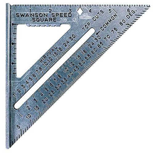 Swanson Tool Co S0101 7-inch Speed Square Layout Tool with Blue Book