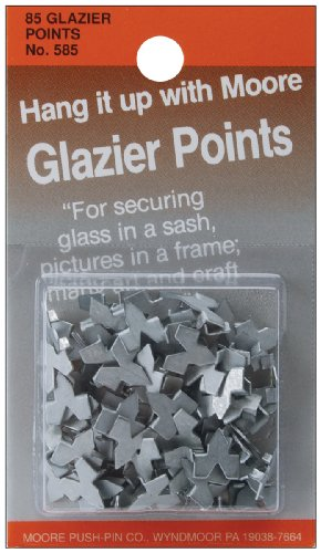 Moore Push Pin Glazier Points, 85/pkg