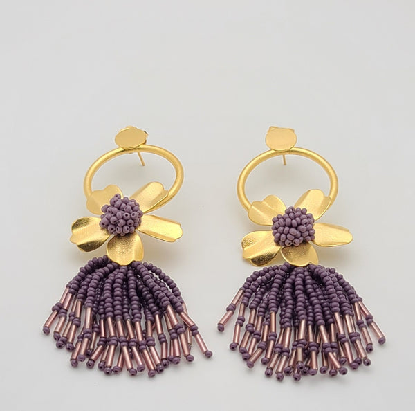 Chloe Earrings (purple)