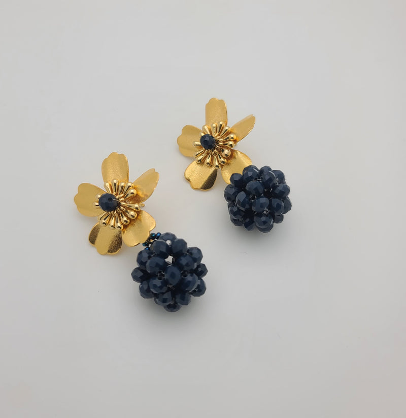 Kate ball Earrings (Blue)