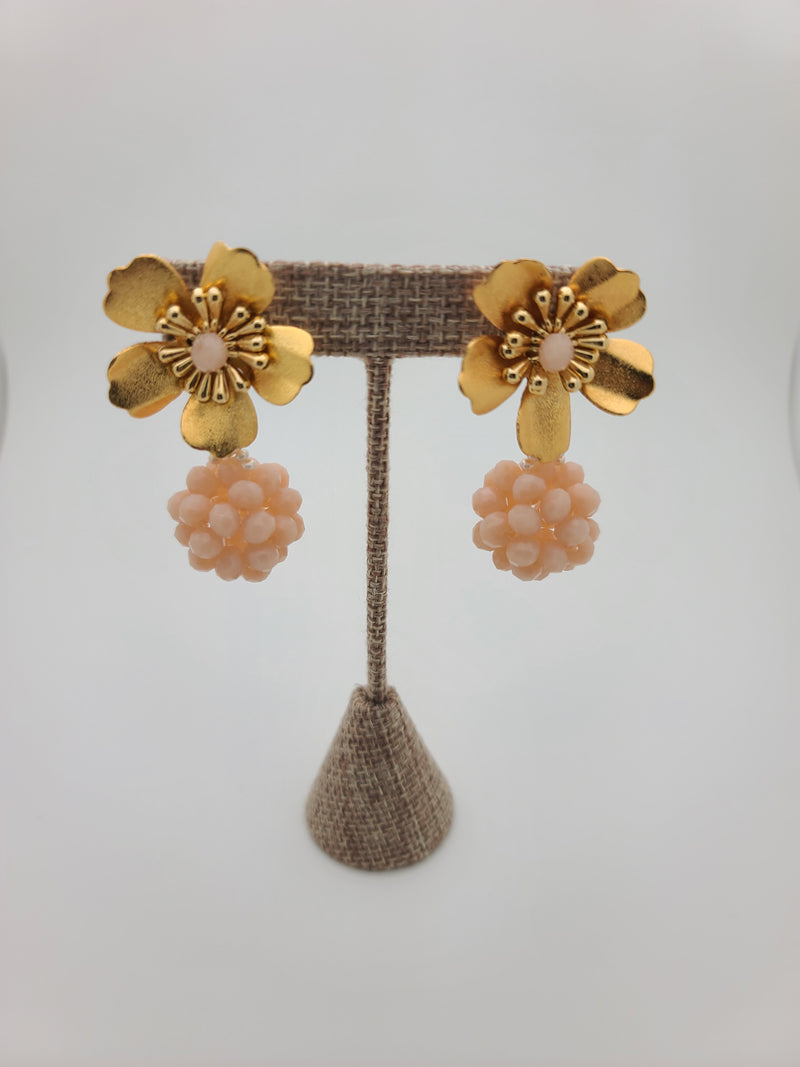 Kate ball Earrings (Beige)