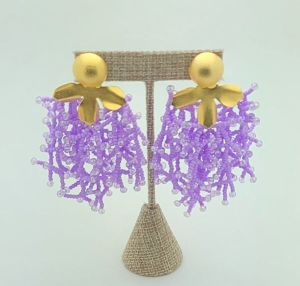 Brooke beaded Earrings (Lavender)