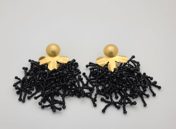 Brooke beaded Earrings (Black)
