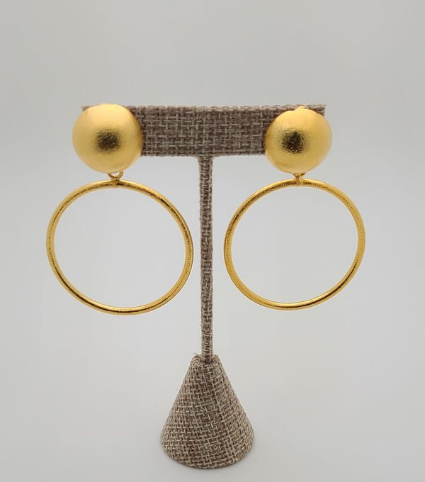 Liz Hoop Earrings (Gold)
