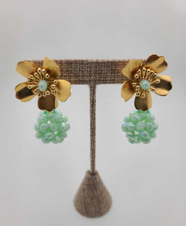 Kate ball Earrings (Mint)