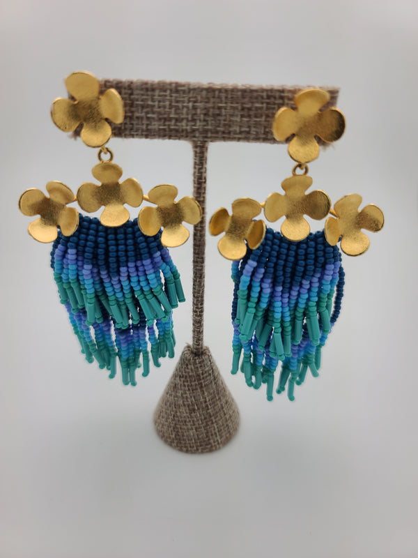 Cascade Earrings ( blue/lavender/green)