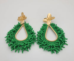 Amanda Drop Earrings (Green)