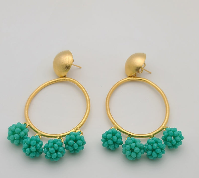 Celia Earrings (Oval/Turquoise)