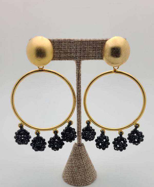 Celia Earrings (Circle/black)